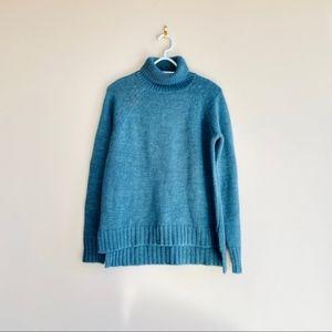 Garnet Hill Sweater Blue Acrylic Blend Size M